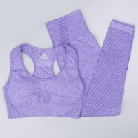 Yoga Outfit 2 Pcs Women Set Fitness Workout Sportswear Gym Clothing Female Sports Bra High Waist Seamless Leggings Running Breathable