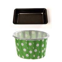 Кекс обертки бумажный торт чехол для выпечки чашки вкладыши кекс зеленый 1x багет хлеб лоток 24 13см кондитерские инструменты
