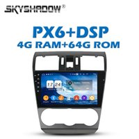 """Player PX6 Car DVD DSP 9 """"IPS Android 9.0 4G + 64G GPS Google Map RDS Radio WiFi Bluetooth 5.0 per Forester 2013 2014 2021"""