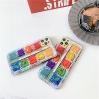 3d Capas de telefone de pigmento colorido para iPhone 12 mini 11 Pro Max Moda Creative SE 7 8 Plus X XR XS Proteger Soft Capa