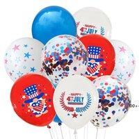 Amerikan Bağımsızlık Günü Dekorasyon Balonlar Parti Arka Plan Kombinasyon Payetli Balon Düğün Tatil Malzemeleri 12 inç EWF6060