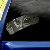 3D Alien Cat  dog  Sloth Car Cracked Decal Sticker Waterproof Easy Install PVC Vinyl Home Decoration Decor Party
