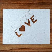 A4 Blank Sublimation Jigsaw Party Favor 72 Pieces LOVE Pearlescent Paper Puzzle Toy Birthday Valentine's Day Gift JJA116