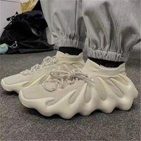 2021 أعلى جودة 450 سحابة كريم أبيض أسود رجل إمرأة الاحذية V2 إزعافيل الرجال أسرييل ساكنة حذاء رياضة مع صندوق