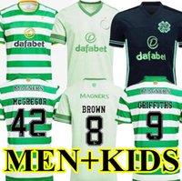 2020 2021 Celtic Soccer Jersey McGregor Griffiths 20 21 Forrest Brown Christie Edouard Bayo Футбольные футболки Мужчины + Детские наборы