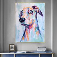 Dog Painting Printed On Canvas Cute Animal Posters And Prints Wall Pictures For Living Room Modern Home Decor No Frame