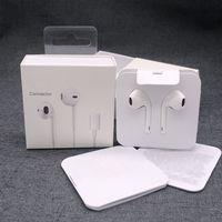 Оригинальные наушники для iPhone 7 8 x 11 12 Pro Max Stereo Bass Wired наушники в ушных наушниках с микрофоном с помощью упаковки