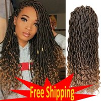 faux locs crochet hair curly braids goddess Locks extensions wiggle meaning wiggins