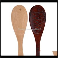 Spoons Flatware Kitchen, Dining Bar Home & Garden2021 Fish Shape Wooden Scoop Non-Stick Meal Spoon Kitchen Utensil Rice Cooker Shovel Wood P