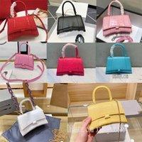com a caixa mais nova de alta qualidade rosa neo clássico top handle saco xs mini mulheres city s bolsas ampulheta messenger messenger sacos tote crocodilo k1nj #