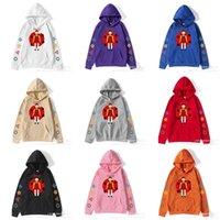 TV Squid game fleece hoodie winter hooded jacket loose pullover cartoon blouses coat cartoon hoodie 123 wooden man robot girl sportswear tracksuit clothes G0072NK