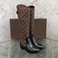 2021 أزياء اللون مطابقة جولة رئيس المرأة أحذية طويلة الإناث عارضة البرية غير الانزلاق جلد النساء الأحذية رعاة البقر الأحذية 10 2502