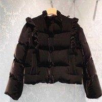 Flannel Winter Women 2021 Designer Black Coat Velvet Thick Warm Puffer Ruffles Zipper-up Coats and Jackets Women1 ZSV1