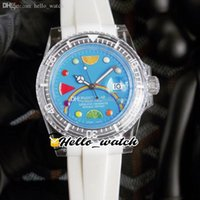40mm Phantomlab horloges Toekomst komt FC Candy Temptation Pink Crysta Miyota 8215 Automatische Mens Horloge Transparant Case Wit Rubber Strap Hallo_Watch HWRX