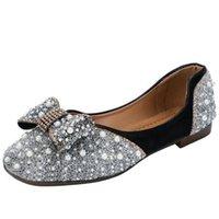 Sandals Rhinestone Pearl Women's 2021 Summer Fashion Platform Womens Shoes Casual Breathable Bow Women Slides