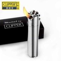 Clipper d'origine de l'Espagne Métal Free Free Free Butane Gaz Jet de torche Portable Briquet de meulage Portable Flint Briquet gonflable 210724