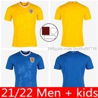 2021 2022 رومانيا Soccer Jersey Home Yellow Away 21 22 Rumania Alexandru Cicaldau Ianis Hagi Dennis Marin Football Shirts Mailleots Camiseta de Futbol