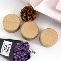 Petits boîtes de rangement en bois rond Boîte Boîte Vintage décoratif Craft naturel Boîte à bijoux Case Accessoires de mariage 322 Q2
