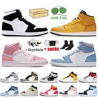 Nike Air Jordan 1 1s Retro Off White x Jordan 1 Große Größe US 13 mit Box Damen Herren Basketballschuhe Twist Jumpman Trainer Hyper Royal Dark Mocha Sneakers