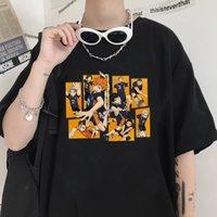 Anime Haikyuu Boy T-Shirt Erkekler Giyim Kadın Harajuku Japon Manga Adamın Üstleri Unisex Punk Gevşek Serin Hip Hop T Gömlek