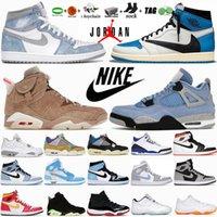 أحذية كرة السلة للرجال 4 4s قطة سوداء بيضاء أوريو حلويات موس جامبمان 1 1s جامعة زرقاء داكنة موكا هايبر رويال 6 6s UNC أخضر كهربائي 11 11S أحذية رياضية نسائية