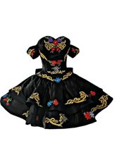 2022 Vinatge Mexican Embroidered Prom Quinceanera Dresses Short Off The Shoulder Sleeves Layers Lace-up Satin Homecoming Formal Dress Mini