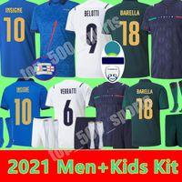 2021 Italien Fussball Jerseys Italia Immobile Belotti Jorginho Insignente Verratti Bernardschi Locatelli Home Away männer Kinder 20 21 Fußballshirts Chiesa Barella Berardi