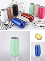 6oz Wine Tumbler 12 Colors Insulated Vaccum Cup Stainless Steel Glass Water Beer Mug Drinkware Wine Glasses