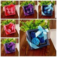 Mors dag tvål blomma kreativ fest premium presentförpackning inslagna konstgjorda rosor romantisk valentins dag present födelsedag bröllop blommor