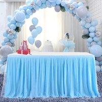 Свадьба прямоугольная для тканевой крышки Свадебный этап Украшения Столы TUTU TUTU У юбки Детская душ