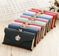Womens Wallet Ladies Crystal Diamond Crown Decorated Long Card Holder Clutch Bag Case Female Retro Leather Purse Handbag Wallets1