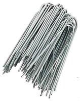 Suministros de jardín paisaje grapas de acero inoxidable U Forma de U Forma de hierba Pin Pines Stick Piens Pegs para asegurar HWB6275