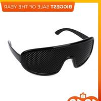 حار أسود للجنسين الرؤية الرعاية الثقب النظارات دبوس هول نظارات العين ممارسة البصر تحسين البلاستيك J0223