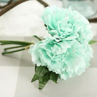 Heads Charming Special Peony Bridal Bouquet Artificial Flowers Wedding Home Party Year Decoration Decorative & Wreaths