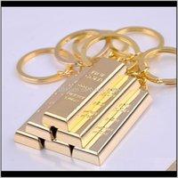 الذهب الخالص سلسلة الذهب الذهبي المفاتيح أقراط النساء حقيبة سحر قلادة المعادن مكتشف فاخرة رجل سيارة مفتاح حلقات التبعي QIVB8 6NSGR