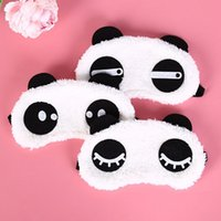 Toiletry Kits Travel Accessories Panda Face Sleep Masks Eye Mask Sleeping Blindfold Nap Cover Health Care Tools Portable