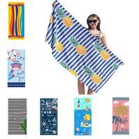 Пляжное полотенце Ультра мягкие микрофибры пляжи полотенца для взрослых персонализированные супер абсорбирующие быстрый сухие бассейн для детей мужчин женщин мальчики девушки HH21-346