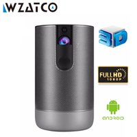 Wzatco D2 3D Smart Projector Full HD 1920x1080 Android 7.1 5G WiFi 300inch DLP PROYCTOR SUPPORTO 4K Videogiochi Game LED Beamer