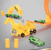 construction engineering edition alloy rail car ejection self assmbling adventure track trolley model boy toys gifts