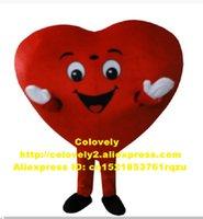 Vívido Vermelho coração mascote traje adulto cliente personagem de desenho animado obrigado festa abertura e fechamento de vendas promoção Promoção Giftware clássico ZZ6002