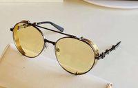 Açılı Siyah Sarı Yuvarlak Pilot Güneş Gözlüğü 60mm Sonnenbrille Erkekler Moda Güneş Gözlükleri Occhiali da Sole Firmati UV400 Protecon Gözlük Yaz Kutusu ile