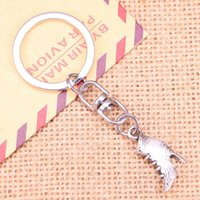 Keychains 5pcs Fashion Keychain 23x15mm Vintage High Heeled Shoes Pendants DIY Men Jewelry Car Key Chain Souvenir For Gift