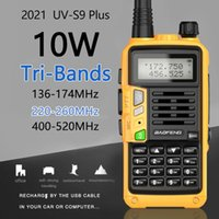 BaoFeng UV-S9 Plus Tri-Band 136-174 220-260 400-520Mhz 10W Poweful Walkie Talkie 10km Long Range Ham CB Radio Transceiver 5R