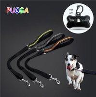Reflective Nylon Dog Leash Running Elastic Walking Training Pet Lead Extra Gift A Garbage Bag Separator Collars & Leashes