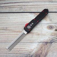 SUZAKU MADE tactical beard comb UT special edition automatic knife aviation aluminum handle sharp D2 blade pocket EDC cool tools custom folding knives