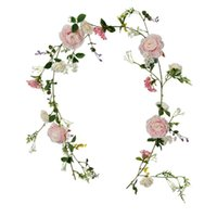 Decorative Flowers & Wreaths Artificial Peony Garland Floral Greenery Rose Flower Vine With Mixed And Green Leaves