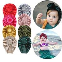 Multicolor Fashion Donut Baby Hat Бархатная эластичная шапочка Cap Newborn Baby повязка в тюрбан Младенческие шапки для волос 2628 Q2
