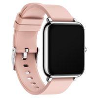 여성 스마트 시계 IP67 방수 피트니스 스포츠 시계 P22 심박 추적기 통화 / 메시지 미리 알림 시계 시간 안드로이드 iOS 용 블루투스 SmartWatch