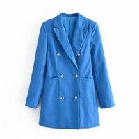 Women's Suits & Blazers PUWD Commuter Women Suit Jacket 2021 Autumn Classic Lapel Street Style Pure Color Slim Retro Temperament Mid-length