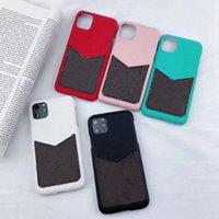 Luxury Card Holder Case для iPhone 7 8 плюс кожаный кожаный кошелек задний чехол для iPhone X XR XS 11 12 Pro Max 12 мини телефонов телефона